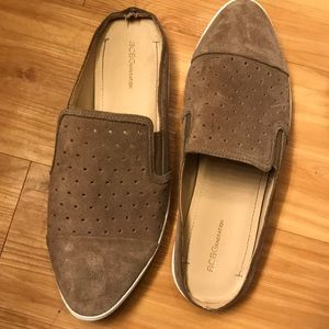 BCBGeneration Faux Suede Slip on Loafers